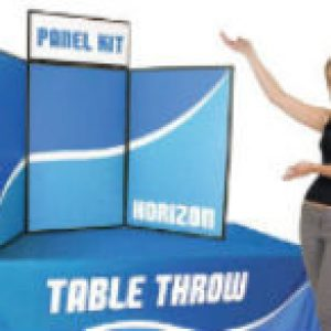 folding panel display sign table throw