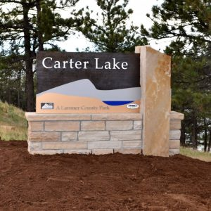 Loveland dimensional letters monument sign, signs