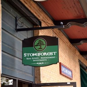 Stone Forest Business Sign