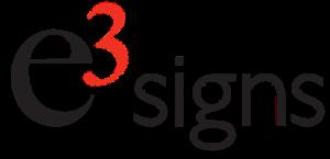 e3 signs logo